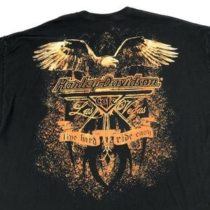 Harley-Davidson Shirts - HARLEY DAVIDSON T Shirt 3XL Las Vegas Cafe Black